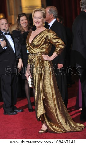 Meryl Streep at the 84th Annual Academy Awards at the Hollywood & Highland Theatre, Hollywood. February 26, 2012  Los Angeles, CA Picture: Paul Smith / Featureflash - stock photo
