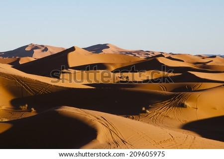 Merzouga Dunes - Morocco - stock photo