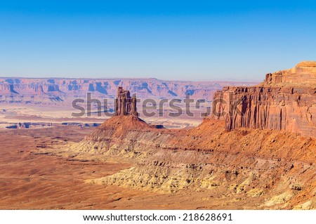 Mesa and butte in canyonlands national park, USA - stock photo