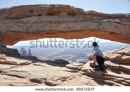 Mesa arch, Canyonlands national park (Utah) - stock photo