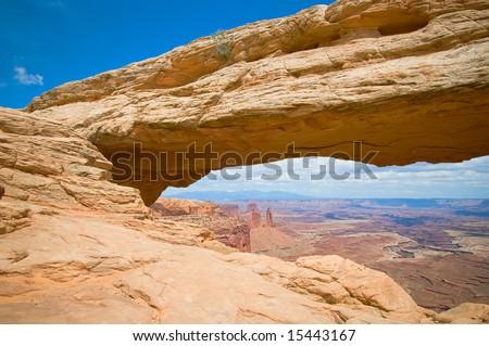 Mesa arch, Canyonlands, Utah, USA - stock photo