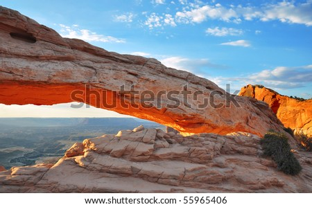Mesa Arch in Canyonlands National Park, Utah. - stock photo
