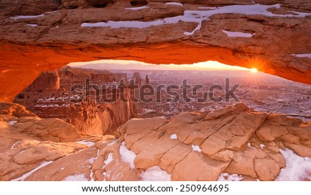 Mesa Arch Sunrise - stock photo