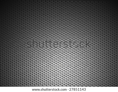 mesh metal structure shaded on corners - stock photo