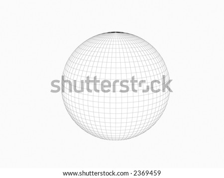Mesh sphere of earth