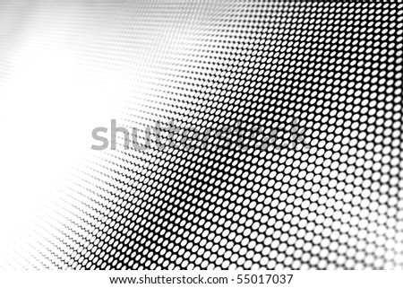 mesh texture on glass window - stock photo