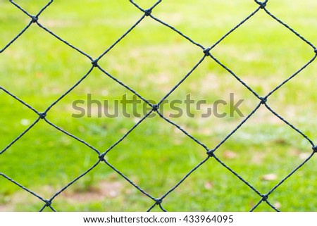 Mesh with green background, Net