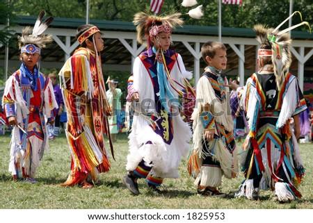 Meskwaki PowWow - Teenagers - 89th Annual Meskwaki Indian Powwow - August 2006, Tama, Iowa - stock photo