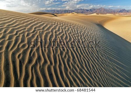 Mesquite Flat Sand Dunes, Death Valley National Park, California, USA - stock photo