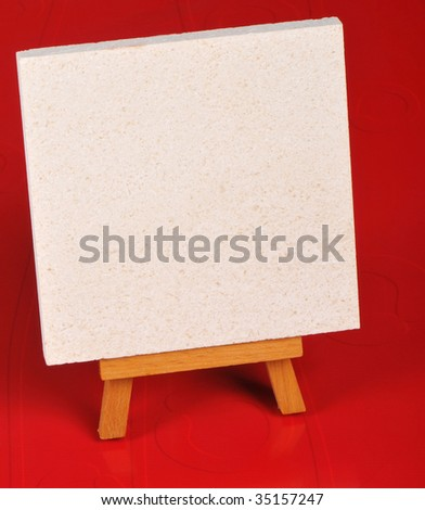 message for empty easel - stock photo