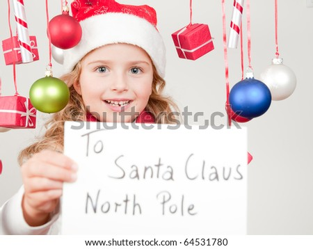 Message for Santa Claus - stock photo