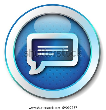 Message icon - stock photo