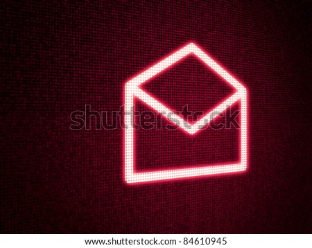 Message Icon Red - stock photo
