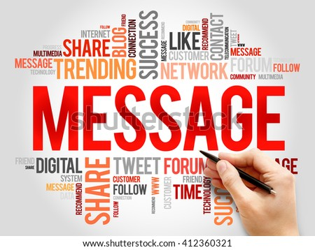 Message word cloud, business concept - stock photo