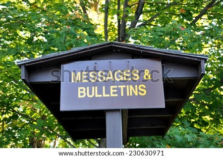 Messages and bulletins sign - stock photo