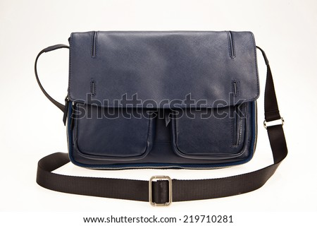 messenger bag isolated - stock photo