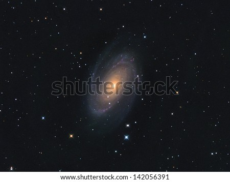 Messier 81 (also known as Bode's Galaxy) is a spiral galaxy about 12 million light-years away in the constellation Ursa Major.