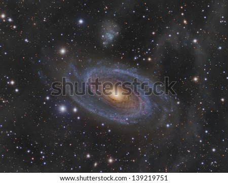 Messier 81 (M81): Spiral Galaxy in the constellation Ursa Major