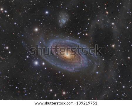 Messier 81 (M81): Spiral Galaxy in the constellation Ursa Major - stock photo