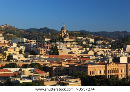 Messina cityscape. Sicily island. Italy - stock photo