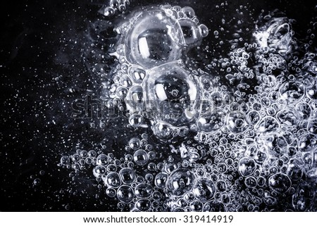 Messy bubble in water texture. - stock photo