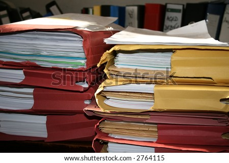 Messy Desk - stock photo