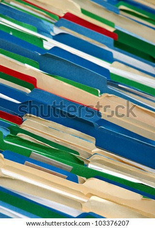 messy file cabinet. Messy Filing Cabinet With Multi-colored File Folders