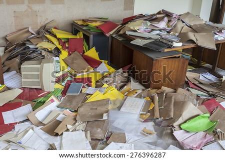 Messy Office Full Folders Stock Photo 276396287 Shutterstock
