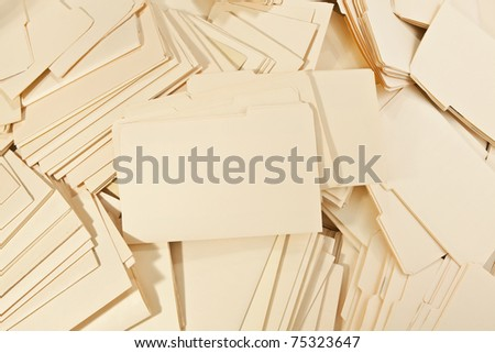 Messy pile of Legal File Folders - stock photo