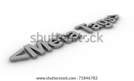 Meta Tags concept - stock photo