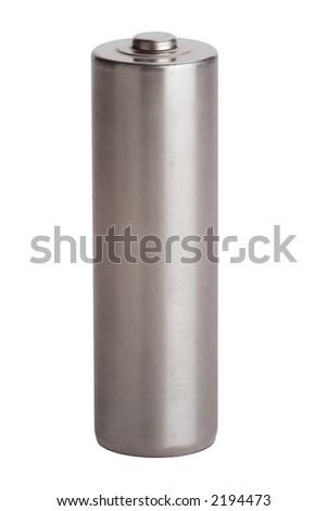 Metal AA battery - stock photo