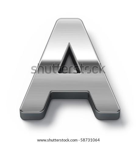 Metal alphabet symbol - a - stock photo