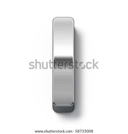 Metal alphabet symbol - i - stock photo