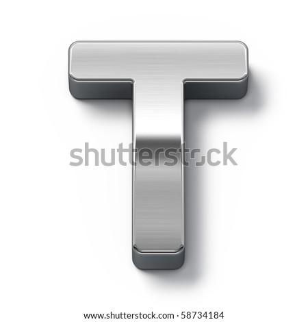 Metal alphabet symbol - t - stock photo