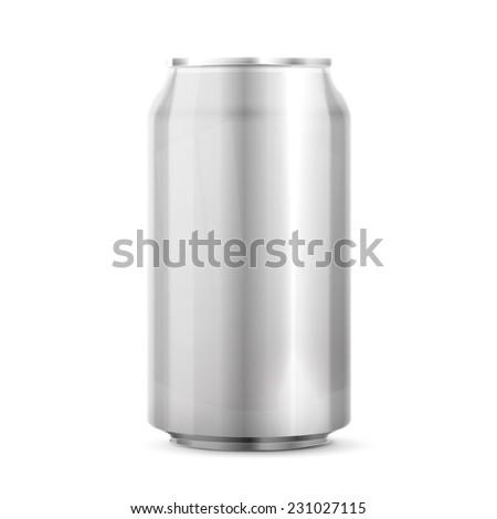 Metal Aluminum Beverage Drink Can - stock photo