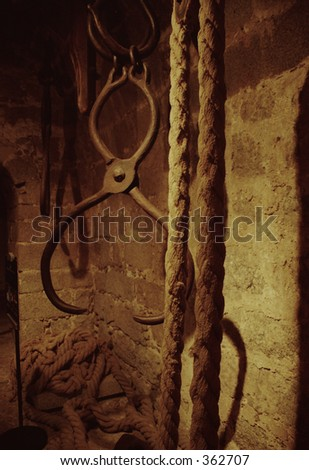 metal and rope - stock photo