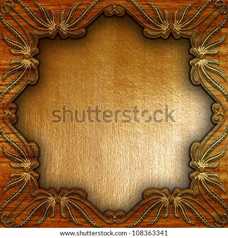 metal and wood background - stock photo