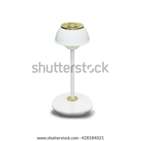 Metal ashtray bin isolated on white background