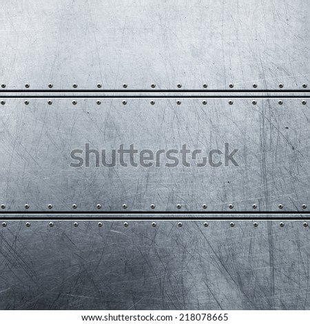 metal background - stock photo