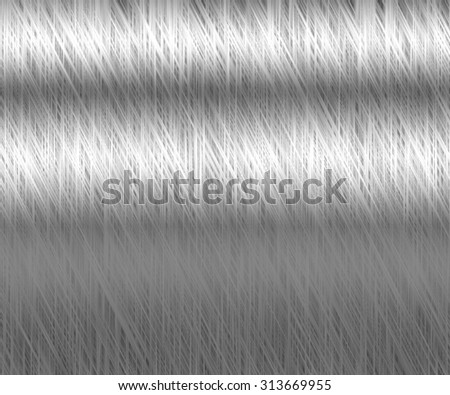 Metal background of brushed steel plate with reflection