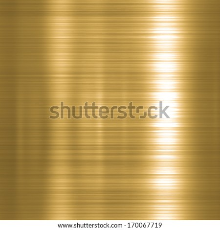 Metal background or texture of brushed gold  plate - stock photo