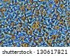 Metal background - pile of metal components. - stock photo