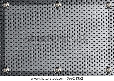 metal background with circles - stock photo