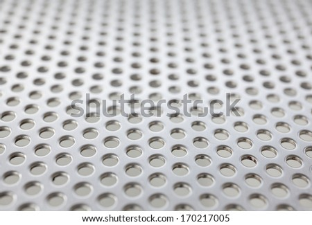 metal background with circles, great for your design background - stock photo