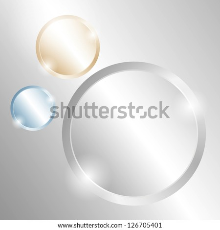 Metal background with circles of different material. Raster version of the loaded vector. - stock photo