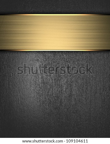 Metal Background with golden name plate - stock photo