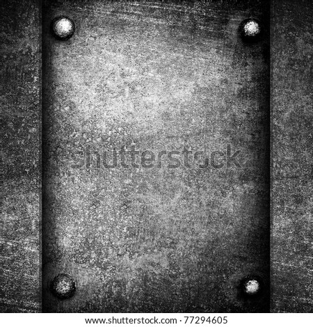 metal background with rivets - stock photo