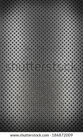 Metal background with seamless circle (3d render)