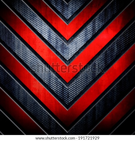 metal background with V pattern  - stock photo