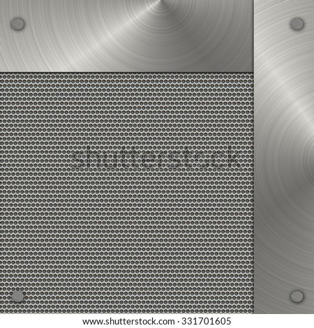 metal banner on silver background - stock photo